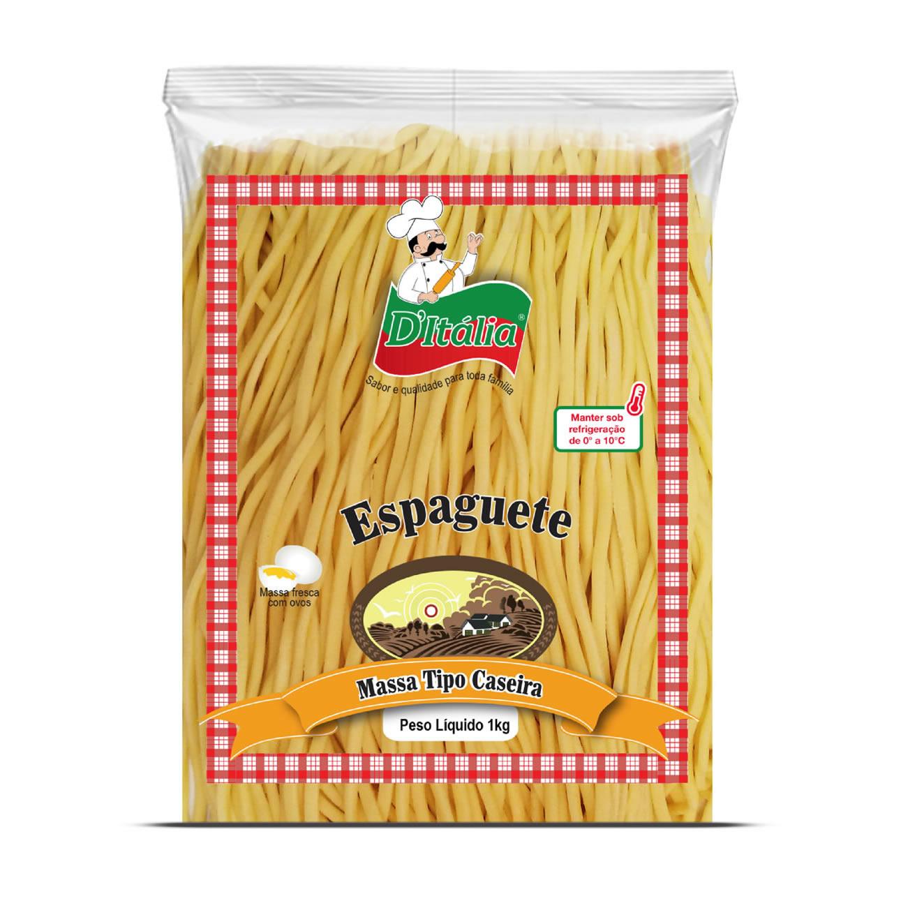 Massa Fresca Espaguete Caseira