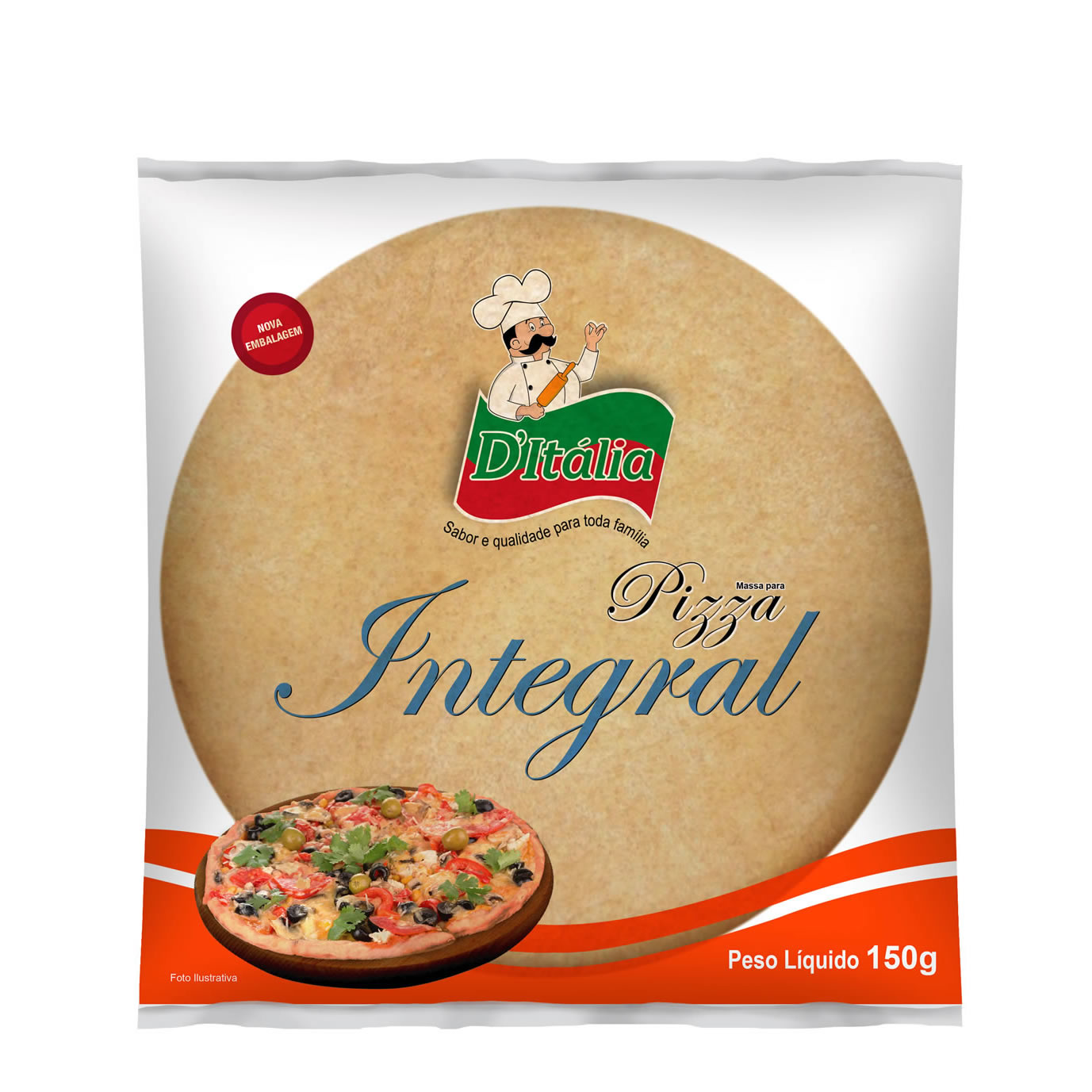 Massa para Pizza Integral