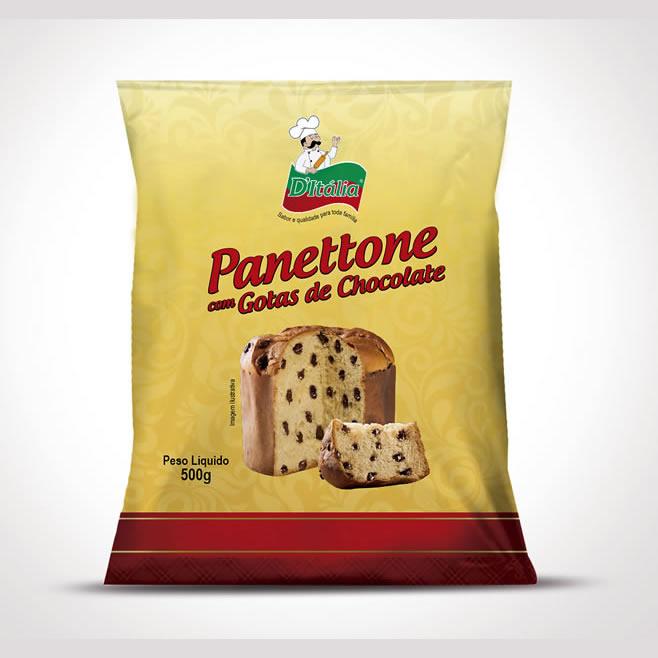 Panettone com Gotas de Chocolate